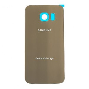 Back Glass for Samsung Galaxy S6 Edge (w/ Adhesive) (PrimeParts - OEM) - Gold