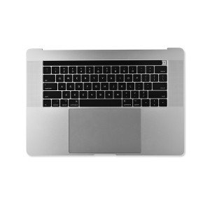 """Palmrest Assembly with Battery for MacBook Pro 15"""" with Touch Bar - Late 2016 - Mid 2017 (A1707) - Silver"""