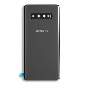 Back Glass with Adhesive for Galaxy S10+ (Prime - OEM) - Ceramic Black
