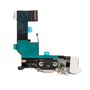 Charging Port & Headphone Jack Flex Cable for iPhone SE - White