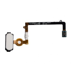 Home Button Flex Cable for Samsung Galaxy S6 Edge (w/ Fingerprint Scanner) - White