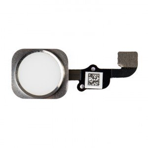 "Home Button Flex Cable (w/ Fingerprint Scanner) for iPhone 6S Plus (5.5"") - White (Fingerprint scanner is aftermarket - biometrics may not work)"