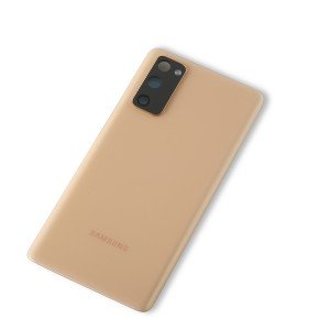 Back Glass with Adhesive for Galaxy S20 FE 5G (OEM - Service Pack) - Cloud Orange